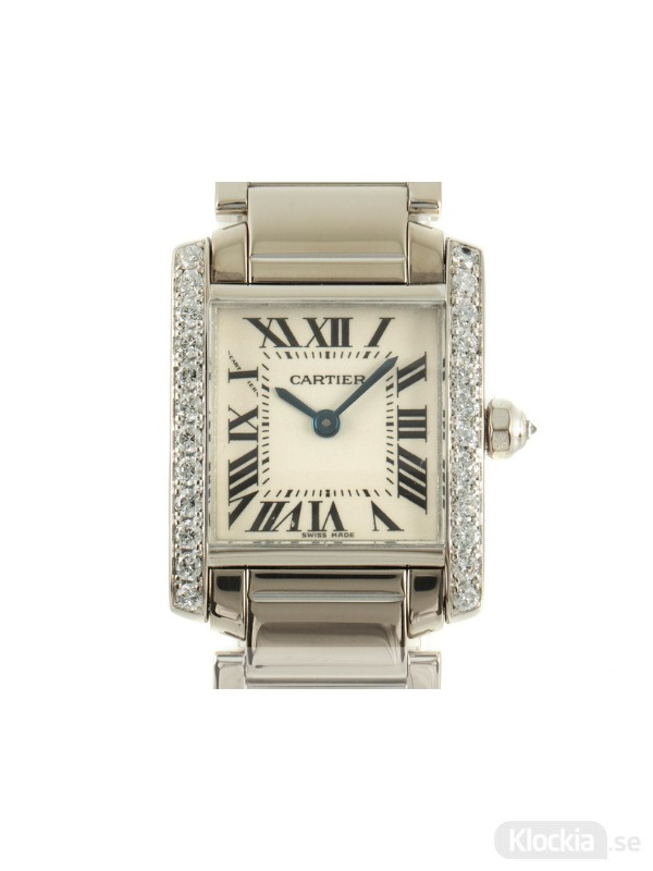 Begagnad Cartier Tank Francaise 18c White Gold/Diamond Lady 2403