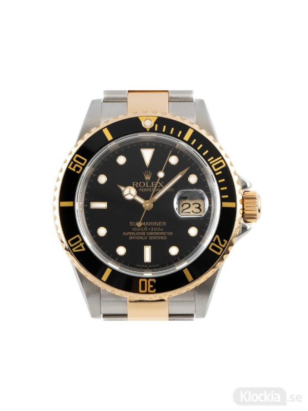 Begagnad Rolex Submariner 40 18c Gold/Steel Oyster Perpetual 16613T