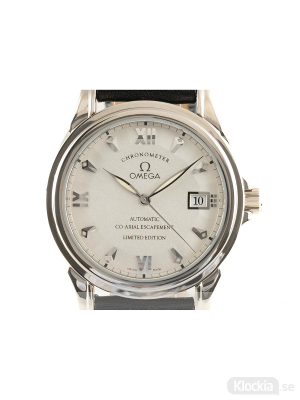 Begagnad Omega De Ville 18c White Gold Co-Axial Chronometer Limited Edition 5941.31.31