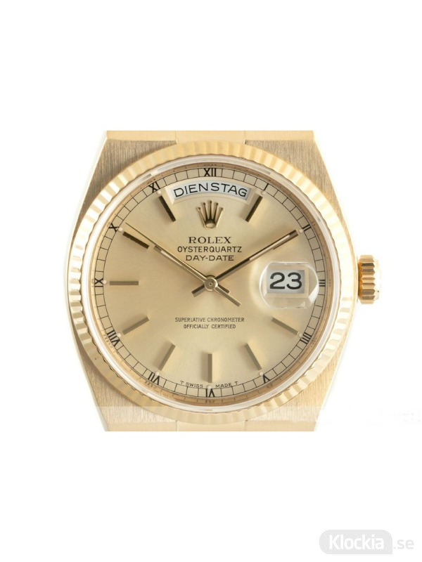 Begagnad Rolex Day-Date 18c Gold Oysterquartz 19018