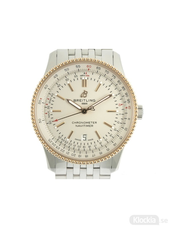 Begagnad Breitling Navitimer 41 18c Gold/Steel Chronometer U17326