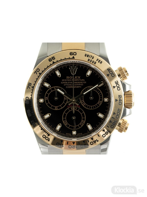 Begagnad Rolex Daytona Cosmograph 40 18c Gold/Steel Oyster Perpetual Chronograph 116503