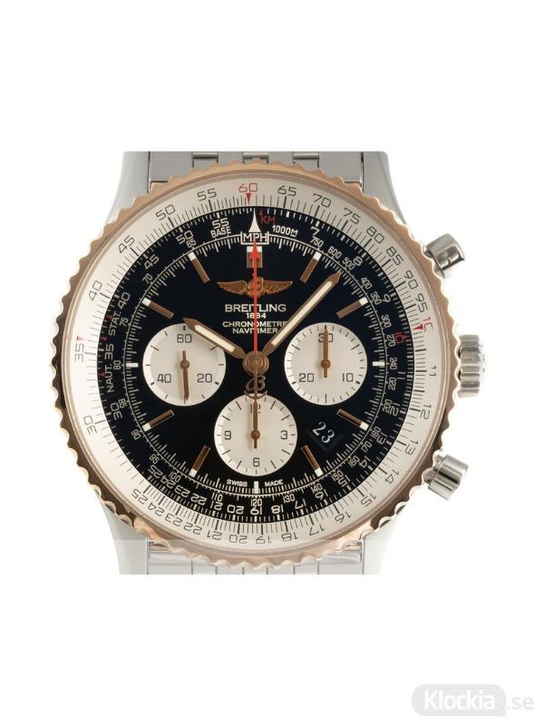 Begagnad Breitling Navitimer B01 18c Rose Gold/Steel Chronograph 46 UB0127