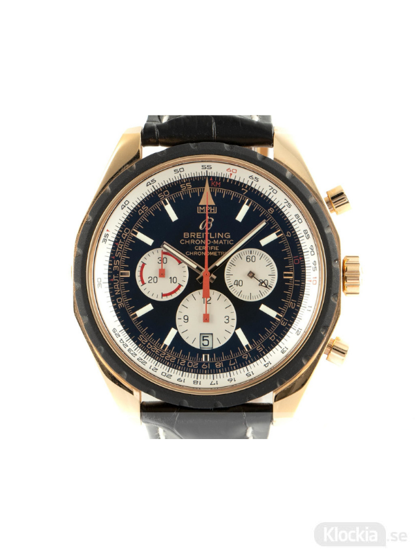 Begagnad Breitling Navitimer Chrono-Matic 49 18c Gold Chronograph Limited Edition R143600