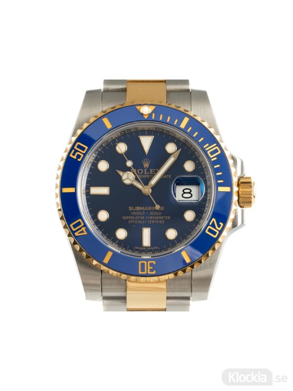 Begagnad Rolex Submariner 40 18c Gold/Steel Oyster Perpetual 116613LB