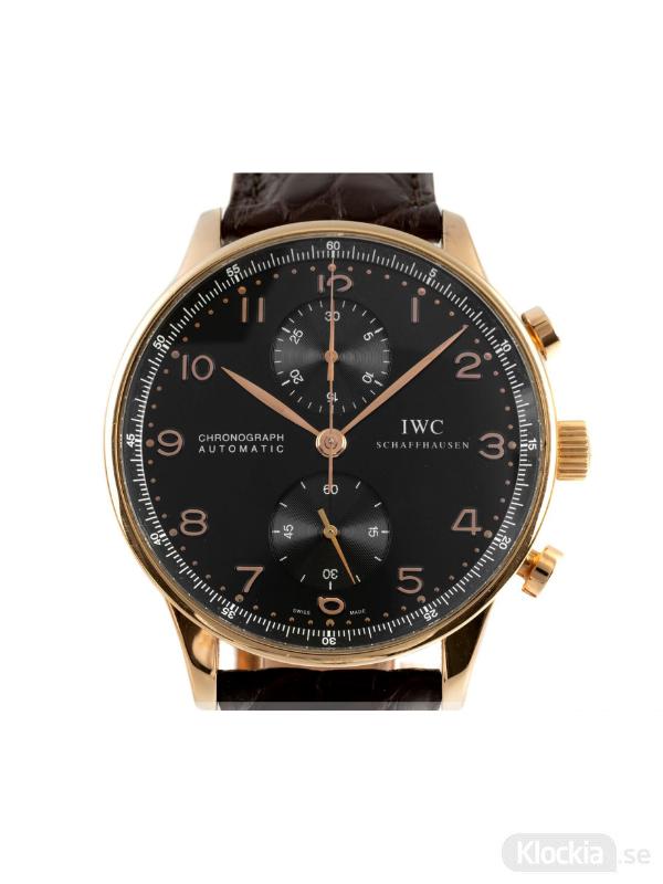 Begagnad IWC Portugieser 41 18c Rose Gold Chronograph IW371415