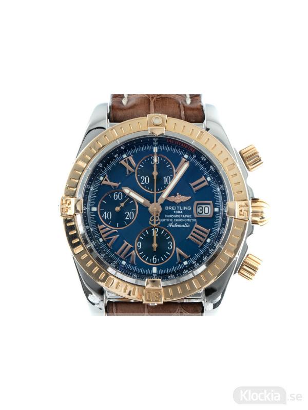 Begagnad Breitling Chronomat Evolution 44 18c Gold/Steel Chronograph C13356