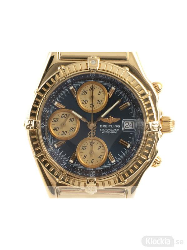 Begagnad Breitling Chronomat 39 18c Gold Chronograph K13050.1