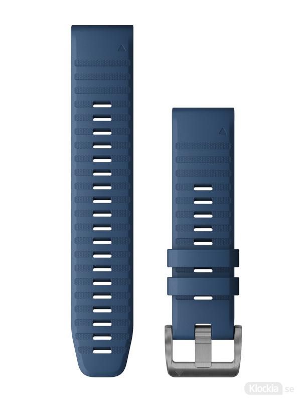 Garmin QuickFit 22mm - Klockarmband, Blå Silikon