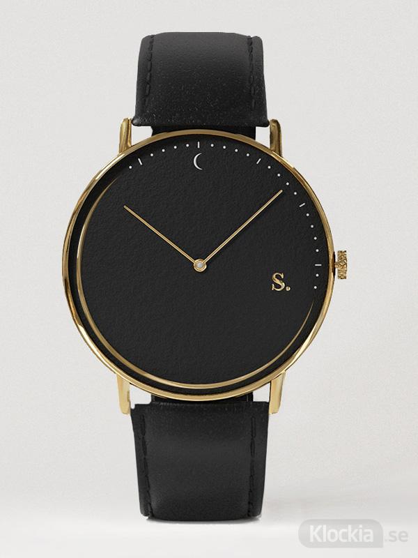 Sandell Night Black Leather SSB38-BLL - Unisexklocka