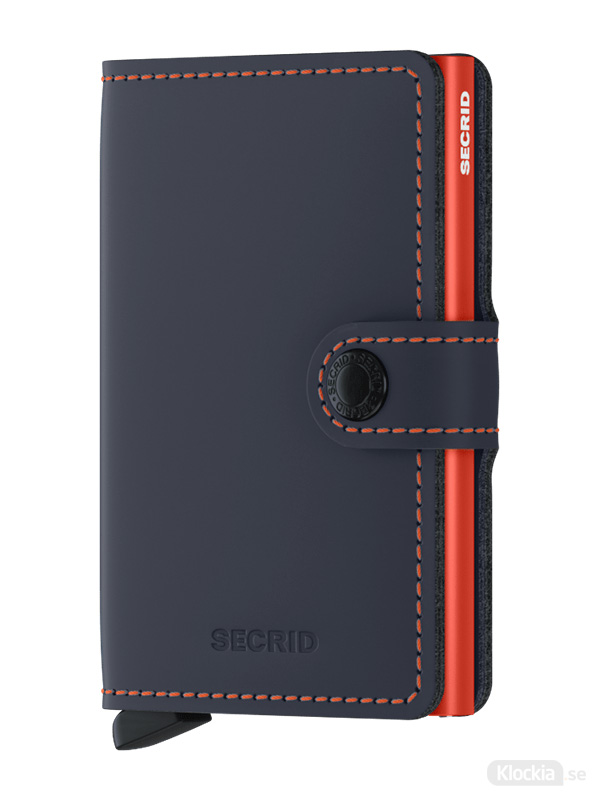 Plånbok SECRID Miniwallet Matte Nightblue & Orange