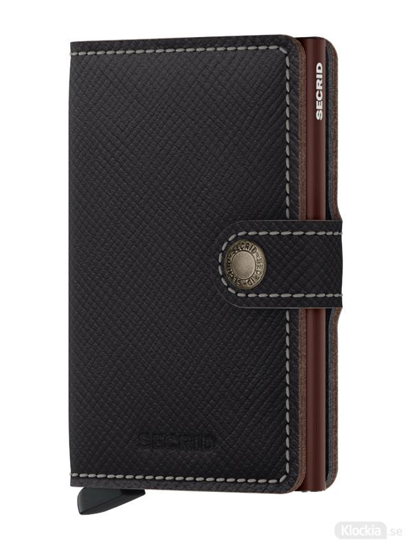 Plånbok SECRID Miniwallet Saffiano Brown