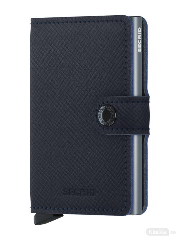 Plånbok SECRID Miniwallet Saffiano Navy