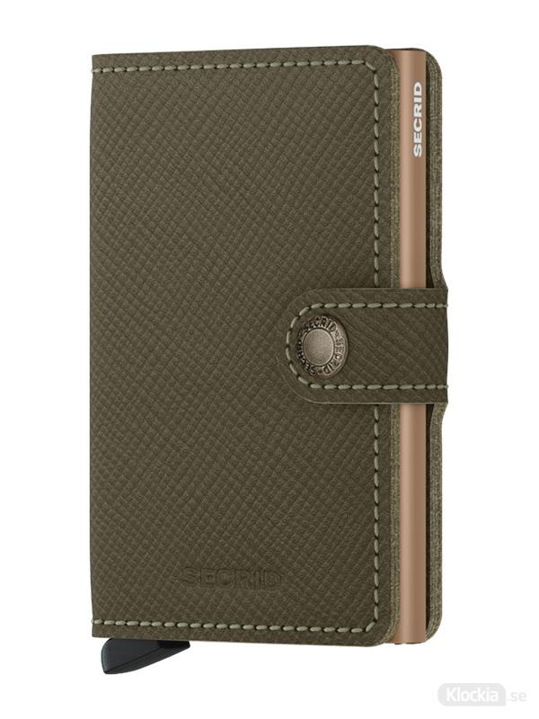 Plånbok SECRID Miniwallet Saffiano Olive