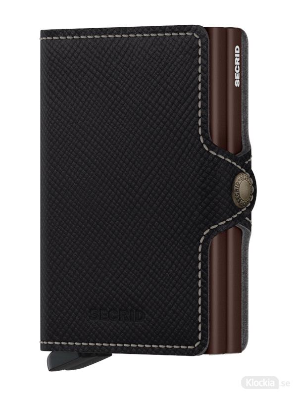 Plånbok SECRID Twinwallet Saffiano Brown