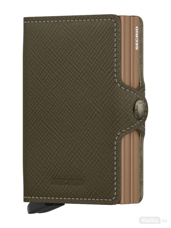 Plånbok SECRID Twinwallet Saffiano Olive