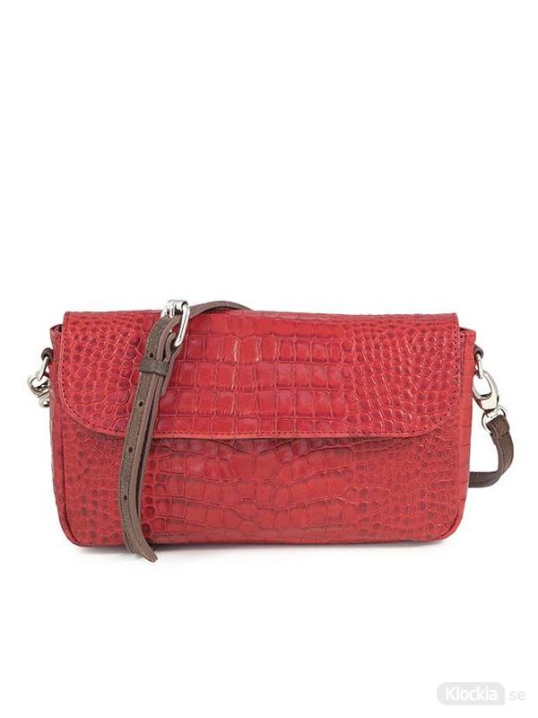 Handväska C.Oui Croco Leather Clutch Bag Toscane 29 - Red
