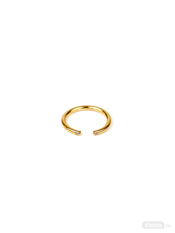 Syster P Ring Tiny Open Sparkle - Guld RG1170