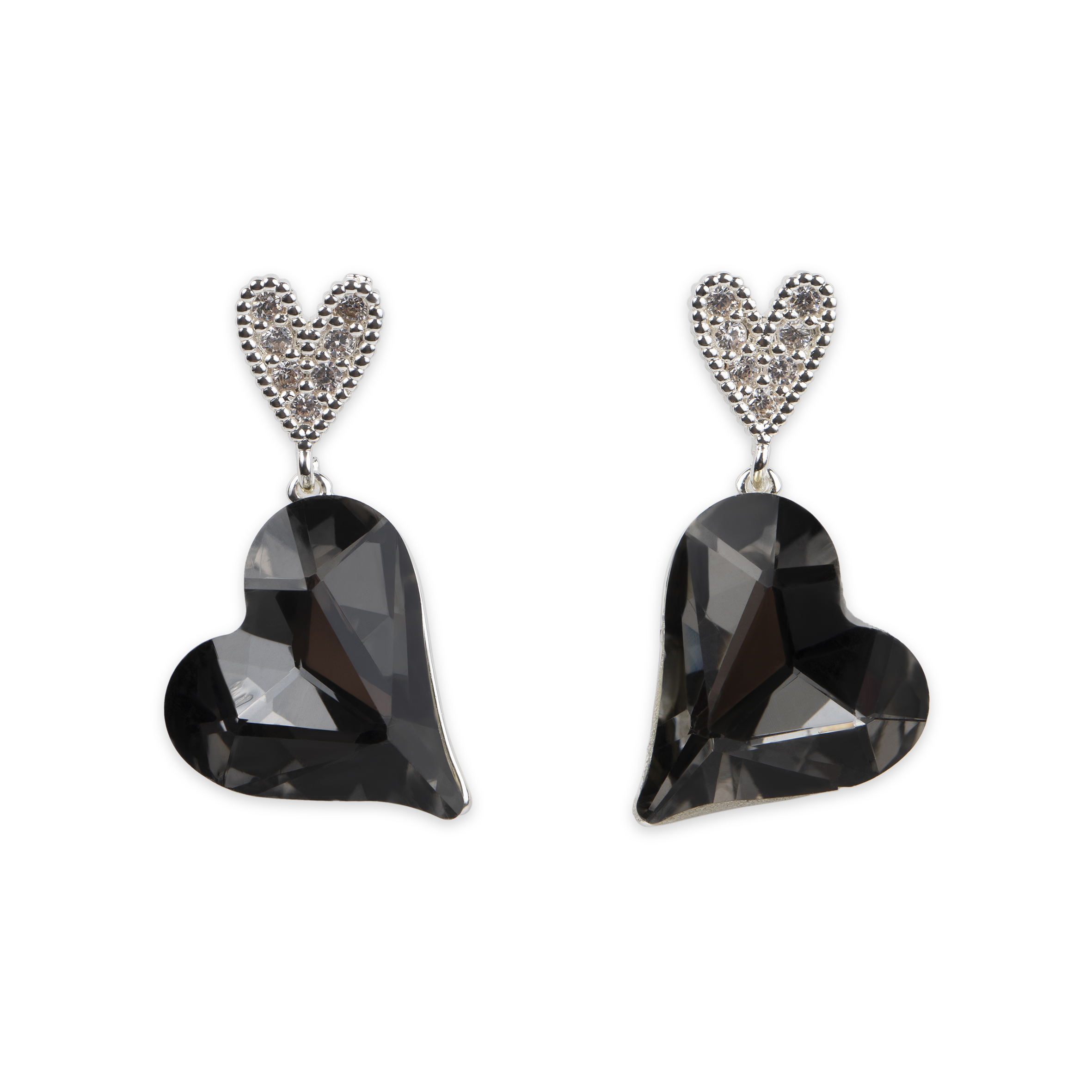 Damsmycke pfg Stockholm Pearls for Girls-Celia Heart Earring 96303-03