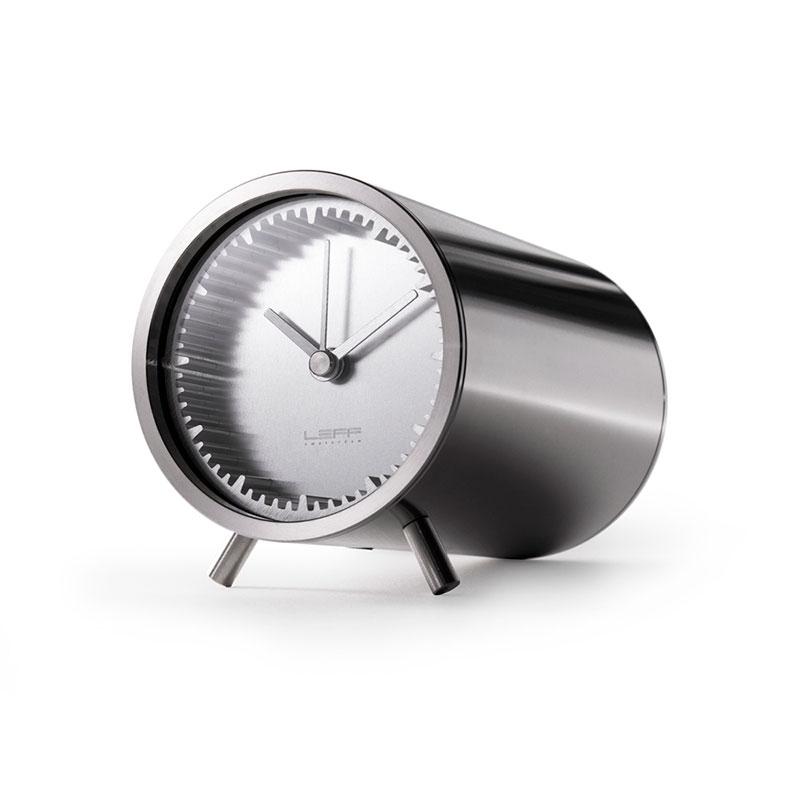 Leff Amsterdam Tube Clock Steel LT70001