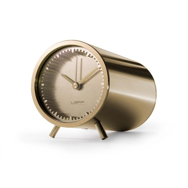 Leff Amsterdam Tube Clock Brass LT70002
