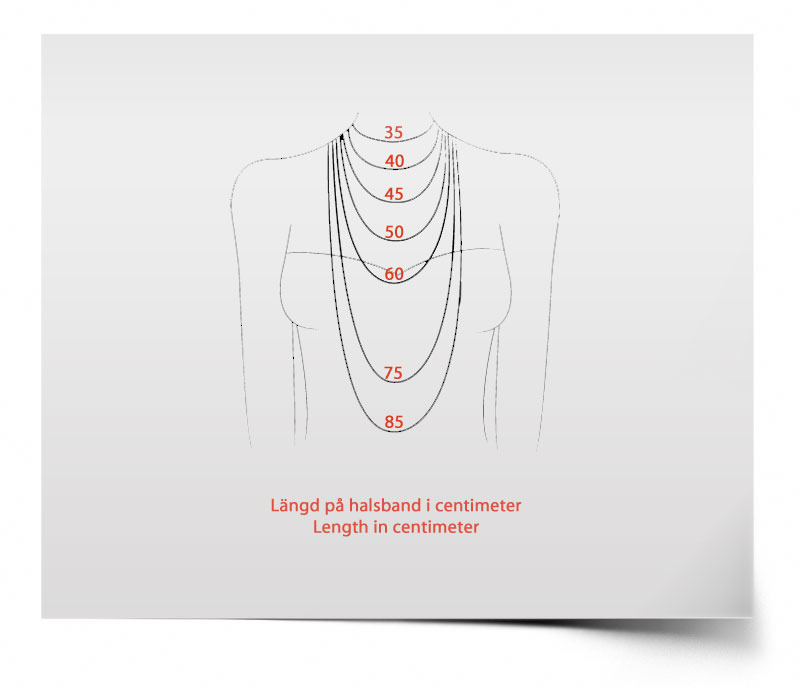 halsband längd dam