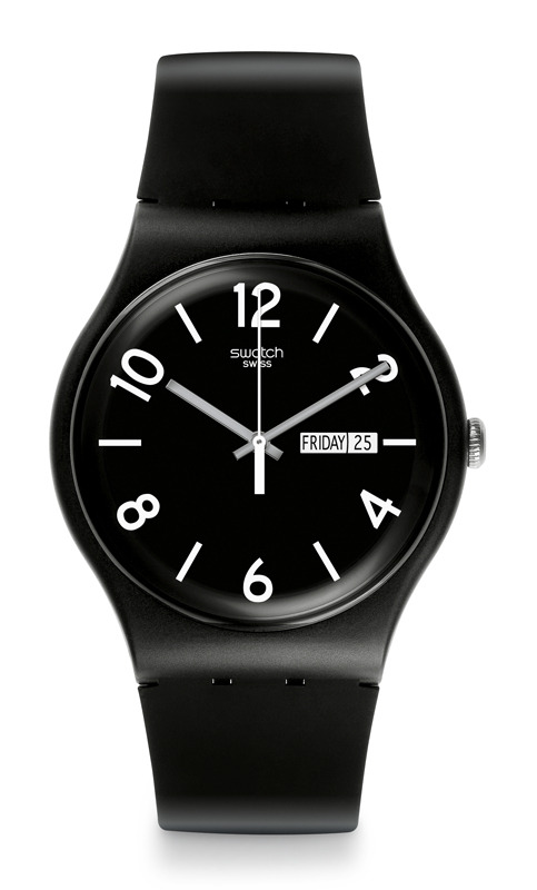 Swatch Backup Black