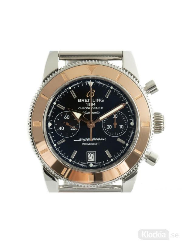 Begagnad Breitling SuperOcean Heritage 44 18c Rose Gold/Steel Chronograph U23370