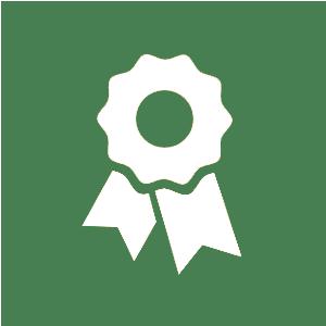 cirkel grön auktoriserad butik