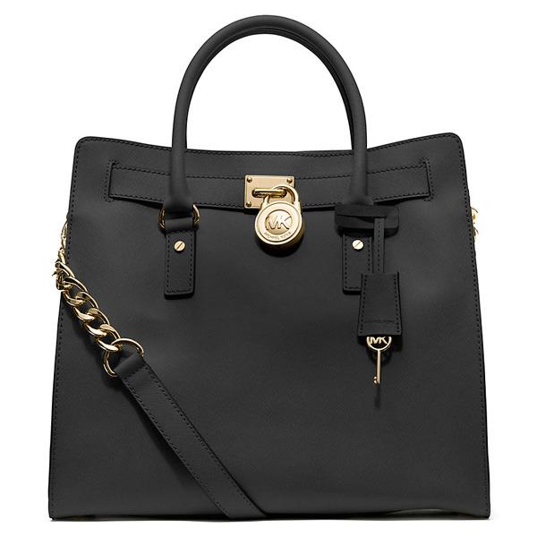 e564bc852 Michael Michael Kors Hamilton Saffiano Leather Tote - Black. Large Saffiano  Leather Tote Black